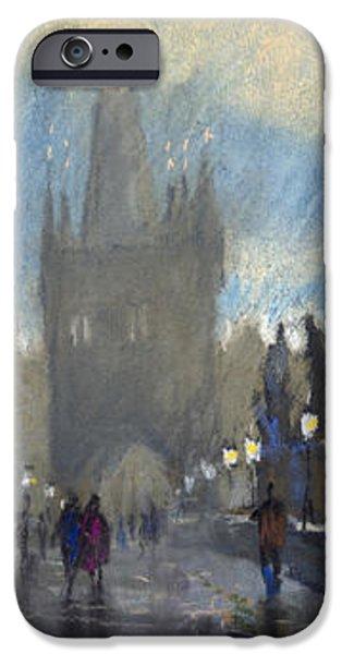 Prague Charles Bridge 06 iPhone Case by Yuriy  Shevchuk