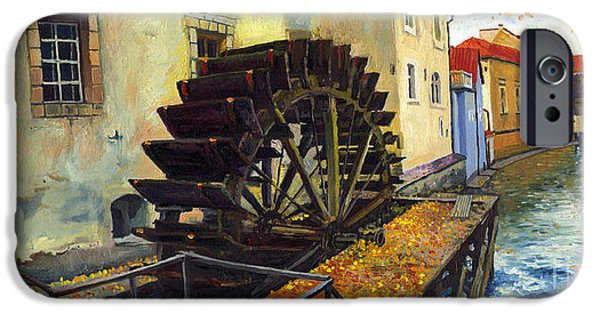 Prague Paintings iPhone Cases - Prague Chertovka iPhone Case by Yuriy  Shevchuk