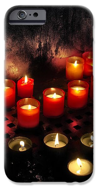 prague church candles iPhone Case by Stylianos Kleanthous