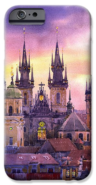 Prague City of Hundres Spiers variant iPhone Case by Yuriy  Shevchuk