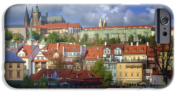 Charles River iPhone Cases - Prague Dreams iPhone Case by Joan Carroll