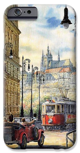 Prague Kaprova Street iPhone Case by Yuriy  Shevchuk