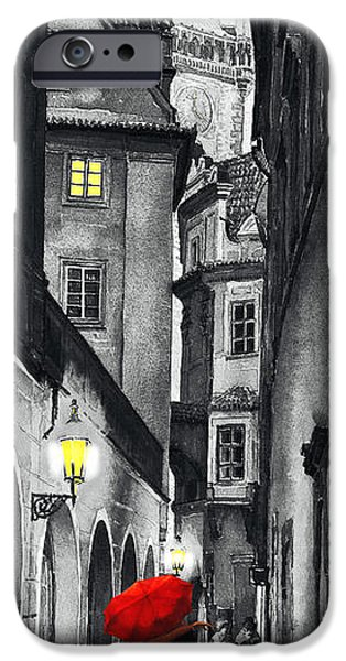 Story iPhone Cases - Prague Love Story iPhone Case by Yuriy  Shevchuk
