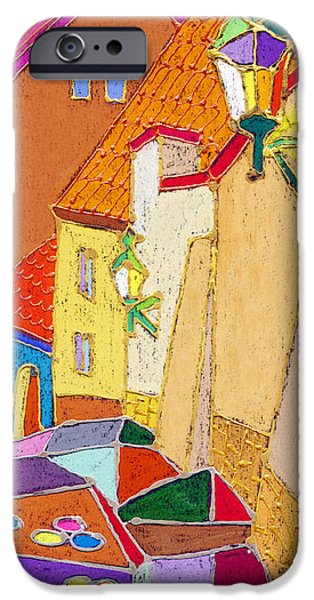 Decorativ iPhone Cases - Prague Old Street Ceminska Novy Svet iPhone Case by Yuriy  Shevchuk