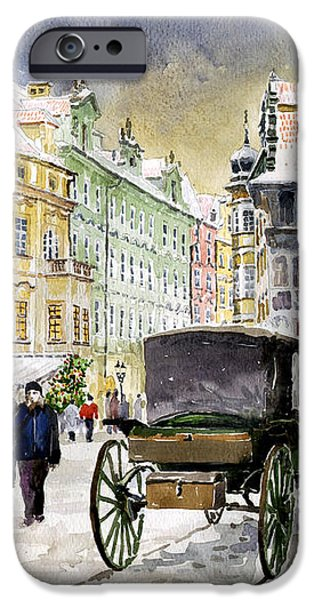 Prague Old Town Square Winter iPhone Case by Yuriy  Shevchuk
