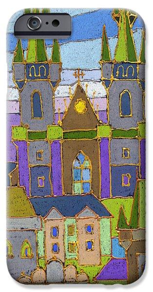 Decorativ iPhone Cases - Prague Panorama iPhone Case by Yuriy  Shevchuk