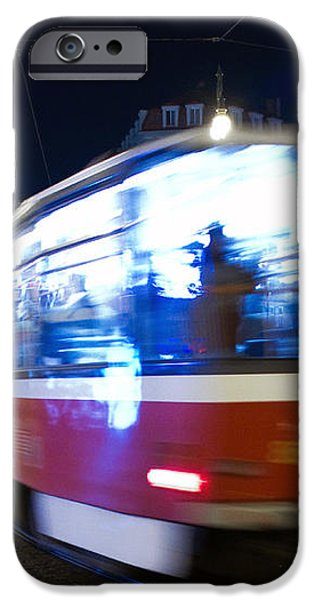 Prague tram iPhone Case by Stylianos Kleanthous