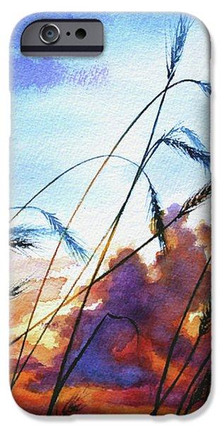 Prairie Sky iPhone Case by Hanne Lore Koehler