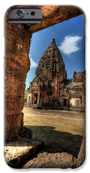 Ruins iPhone Cases - Prasat Phnom Rung iPhone Case by Adrian Evans