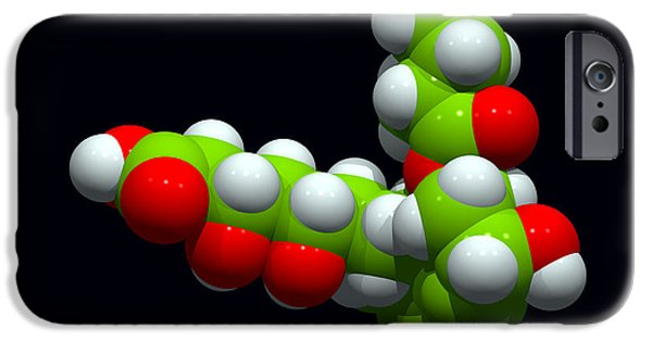 Model iPhone Cases - Pravastatin Drug, Molecular Model iPhone Case by Dr Tim Evans
