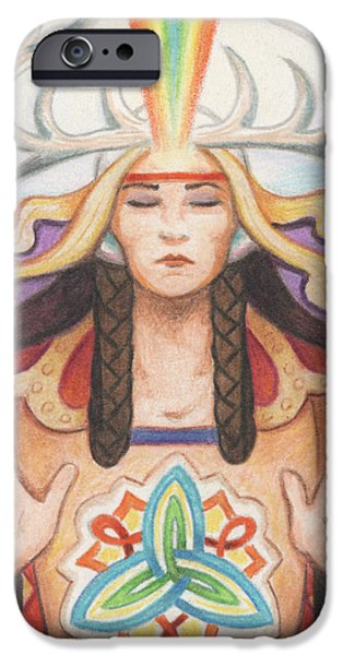 Aceo iPhone Cases - Pray For Unity Dream Of Peace iPhone Case by Amy S Turner