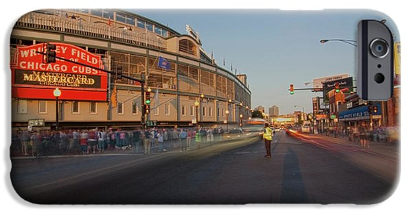 Wrigley Field iPhone Cases - Pre-game Cubs Traffic iPhone Case by Sven Brogren