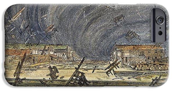 Prescott iPhone Cases - Prescott, Ks: Cyclone, 1887 iPhone Case by Granger