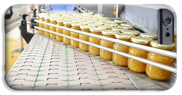 Production Line iPhone Cases - Preserve And Jam Bottling Production Line iPhone Case by Photostock-israel