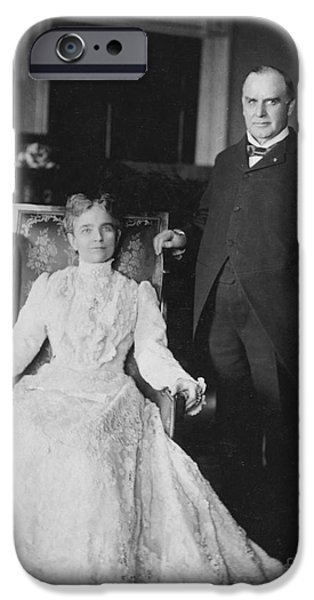 The White House Photographs iPhone Cases - President & Mrs. Mckinley iPhone Case by Granger