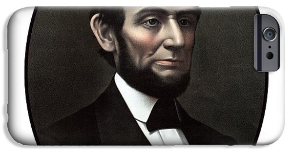 American History iPhone Cases - President Abraham Lincoln  iPhone Case by War Is Hell Store