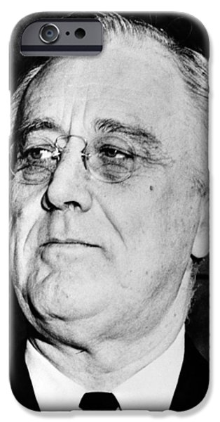 Franklin Photographs iPhone Cases - President Franklin Delano Roosevelt iPhone Case by War Is Hell Store
