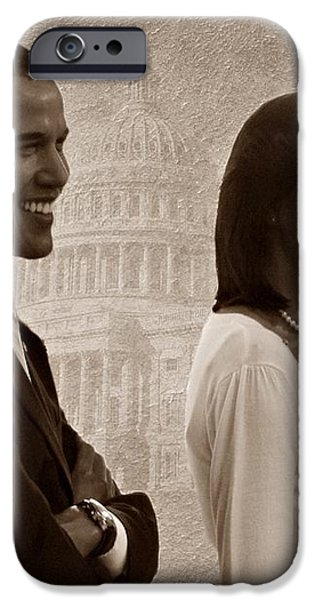 President Obama and First Lady S iPhone Case by David Dehner