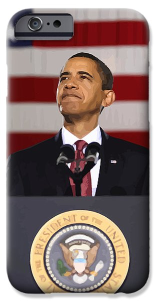Obama iPhone Cases - President Obama iPhone Case by War Is Hell Store
