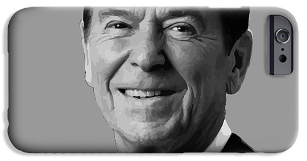 President iPhone Cases - President Reagan iPhone Case by War Is Hell Store