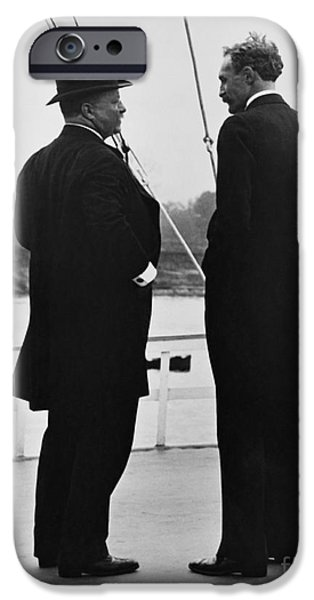 America First Party iPhone Cases - President Roosevelt And Gifford Pinchot iPhone Case by Photo Researchers