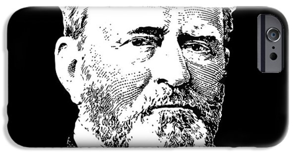 President iPhone Cases - President Ulysses S. Grant iPhone Case by War Is Hell Store