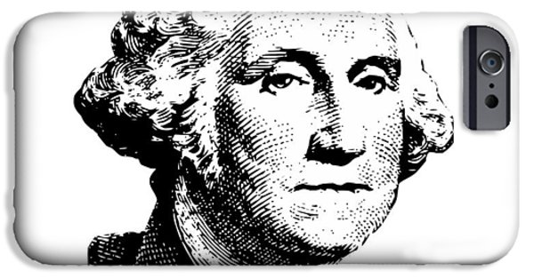 President iPhone Cases - President Washington iPhone Case by War Is Hell Store