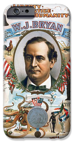 Democratic Party iPhone Cases - Presidential Campaign, 1900 iPhone Case by Granger