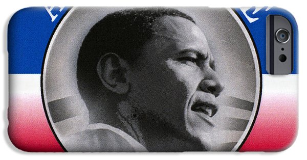 President Obama iPhone Cases - Presidential Campaign, 2008 iPhone Case by Granger
