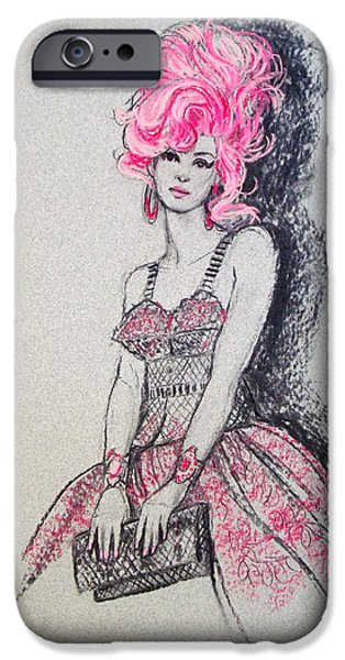 Pink Pastels iPhone Cases - Pretty in Pink Hair iPhone Case by Sue Halstenberg