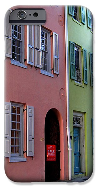 Pretty Lane in Charleston iPhone Case by Susanne Van Hulst