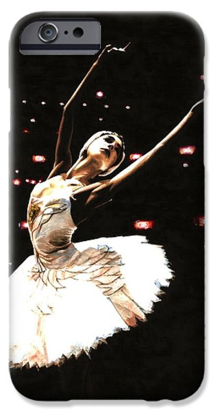 Tutu iPhone Cases - Prima Ballerina iPhone Case by Richard Young