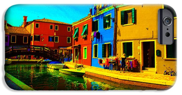Digital Art Pastels iPhone Cases - Primary Colors 2 iPhone Case by Donna Corless