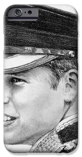 Celebrities Art iPhone Cases - Prince William in 2011 iPhone Case by J McCombie