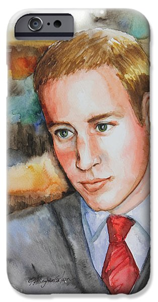 Kate Middleton iPhone Cases - Prince William iPhone Case by Patricia Allingham Carlson