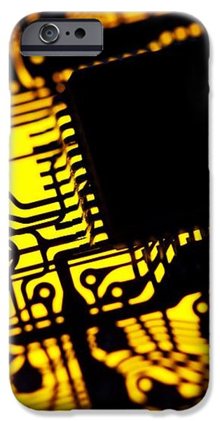 Printed Circuit Board, Artwork iPhone Case by Pasieka