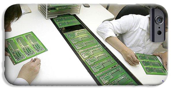 Printed Circuit Board iPhone Cases - Printed Circuit Board Assembly Work iPhone Case by Ria Novosti