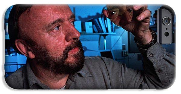 Biochemist iPhone Cases - Professor Jean Frechet, Biochemist iPhone Case by Volker Steger