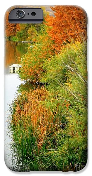 Prosser Autumn Docks iPhone Case by Carol Groenen