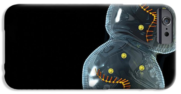 Proliferate iPhone Cases - Protocell Proliferation, Artwork iPhone Case by Henning Dalhoff