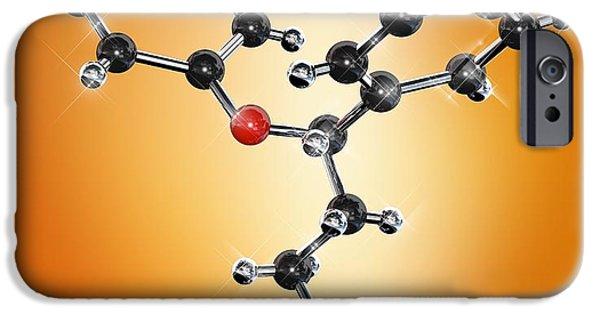 Antidepressant iPhone Cases - Prozac Antidepressant Molecule iPhone Case by Miriam Maslo