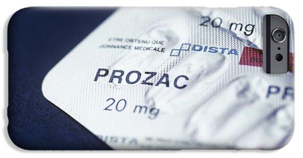 Antidepressant iPhone Cases - Prozac iPhone Case by Cristina Pedrazzini