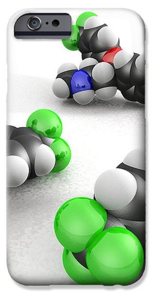 Prozac Molecules iPhone Case by Phantatomix