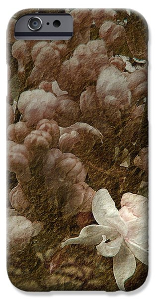 Floral Digital Art Digital Art iPhone Cases - Pruning Lilacs iPhone Case by Lianne Schneider