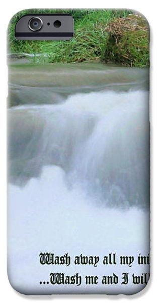 Psalm 51 2 iPhone Case by Kristin Elmquist