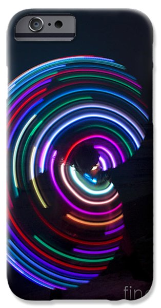 Juggling iPhone Cases - Psychedelic Hula Hoop iPhone Case by Ilan Rosen