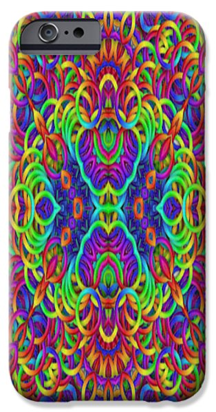 Gina Manley iPhone Cases - Psychedelic Kaleidoscope  iPhone Case by Gina Lee Manley