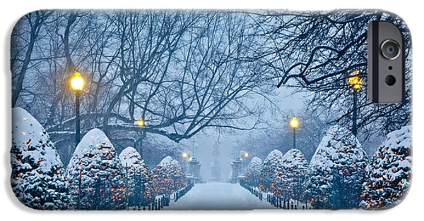 Bay Photographs iPhone Cases - Public Garden Walk iPhone Case by Susan Cole Kelly