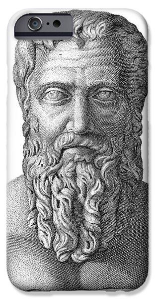 Statue Portrait iPhone Cases - Publius Pertinax (126-193) iPhone Case by Granger
