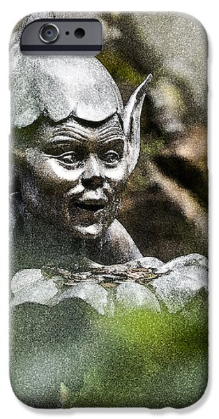 Puck in the Garden iPhone Case by Heiko Koehrer-Wagner